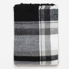 """Zara Plaid Blanket Scarf NEW w/ Tag Zara Black & White Checkered Blanket Scarf.       100% Acrylic.                                                                 New with tags.                                                                                   NO trades.                                                                       PRICED HIGHER until serious buyer makes a reasonable offer via the """"Offer"""" button. No need for silly, rude comments. Zara Accessories Scarves & Wraps"""