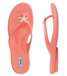 Oka-B Eloise Coral Flip Flop made in USA