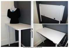 1000 id es sur le th me table murale rabattable sur for Bureau qui s accroche au mur