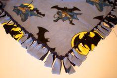 Superhero fleece throw blanket