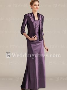 Mother Of The Bride Dresses_Grape - This website is amazing, they offer custom colors and you can also have it custom sized as well! www.inweddingdress.com