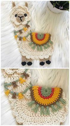 Llama Applique Crochet Pattern Beau Crochet, Crochet Mignon, Crochet Diy, Crochet Amigurumi, Love Crochet, Crochet Gifts, Crochet Dolls, Crochet Ideas, Scarf Crochet