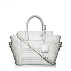 Mini Atlantique handbag in white.