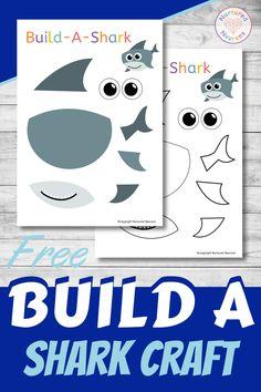 A Super Build A Shark Craft (Preschool Printable) - Nurtured Neurons