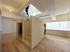 Creative Model On Under Stair Storage : Shiny Bulb Light Wood Floor Under Stair Storage Glass Window