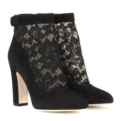Dolce & Gabbana - Vally suede and lace ankle boots - mytheresa.com GmbH