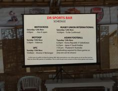 Check out the schedule and let's watch together this week sports only at DR Sports bar... www.diningroomcandidasa.com  #candidasa #karangasem #bali #sportsbar #fun #rugby #motogp #motocross #asianfootball #fun #watch