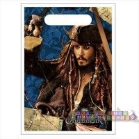 """Pirates of the Caribbean """"On Stranger Tides"""" Favor Bags  http://hardtofindpartysupplies.com/Pirates-of-the-Caribbean-childrens-birthday-party-supplies/Pirates-of-Caribbean-Stranger-Tides-Favor-Bags-Loot-Treat-Sacks-Goodie-Goody-Party"""