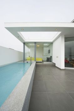 Great Lap Pool. Side wall with narrow long window for natural lighting.