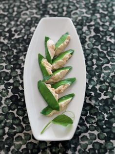 Snow Peas with Smoked Salmon Pate
