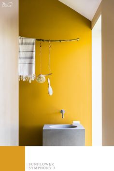 Be inspired by the natural world this Autumn. Bring elements of natural beauty into your home with a bright yellow wall inspired by Sunflowers.   #WonderfulNature