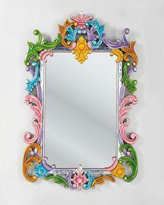 Wandspiegel-bemalter-Rahmen-Ibiza-Kollektion
