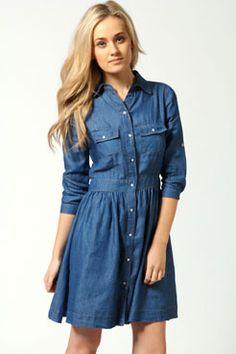 Sophie Elasticated Waist Button Through Dress