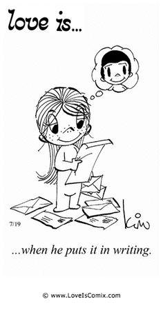 El amor es ... cuando él lo pone por escrito. 12-FEB-2015