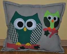 funny handmade owl pillow case