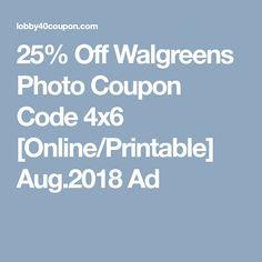 walgreens photo codes 2019
