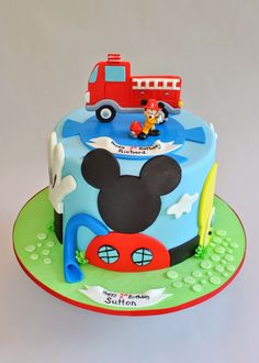Mickey Mouse Firetruck Cake, Hope's Sweet Cakes