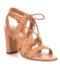 Harris Suede Ghilie Lace Up Block Heel Sandals SeodX2Z