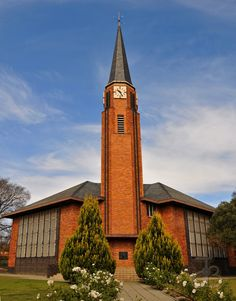 Dutch Reformed church of Kroonstad, Free State, South Africa. Cathedral Church, My Church, Church Architecture, Beautiful Architecture, Houses Of The Holy, Church Pictures, The Tabernacle, Free State, Old Churches