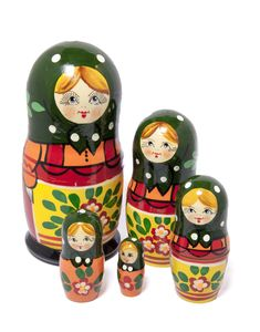 Iso venäläinen Starorusskaya-maatuskanukke (5 nukkea sisäkkäin) Salt And Pepper, Salt N Pepper