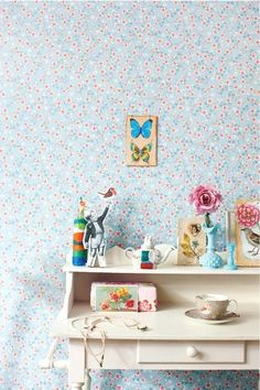 Pip Studio Cherry Blossom White wallpaper-mischa likes.