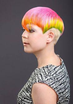 Hiukset: Aki-Matti, Meikki: Julia, Kuva: Jarno Beautiful Hair Color, Rainbow Hair, Tangled, Body Art, Hair Style, Rapunzel