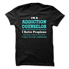 Awesome Addiction Counselor Tee Shirts - #wedding gift #gift table. ACT QUICKLY => https://www.sunfrog.com/LifeStyle/Awesome-Addiction-Counselor-Tee-Shirts.html?68278