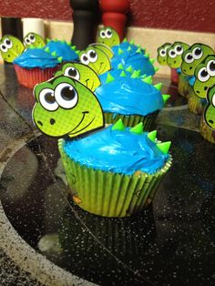 Dinosaur Cupcake Decorating Kit Boy Birthday Party Themes and