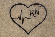 Medical Professional Heart (Cna Lpn Rn Bsn Aprn Np Cns Emt Rt Md) Heartbeat Metal Wall Art, Nursing decor, Nurse wall art, Registered Nurse by TheBarkingGoose on Etsy https://www.etsy.com/listing/240073436/medical-professional-heart-cna-lpn-rn