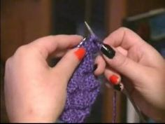 ▶ How to Knit a Scarf : How to Do the Purl Stitch: Scarf Knitting - YouTube
