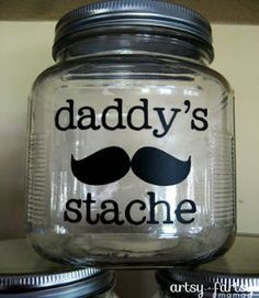 Daddy's Stache- Cute, inexpensive Father's Day gift idea!