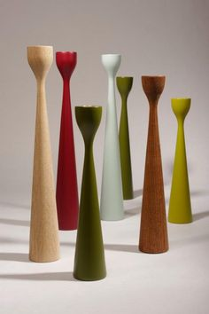 Automn inspiration Rolf™ candal holder in green, olive, dark red, teak, oak and vintage green by FREEMOVER