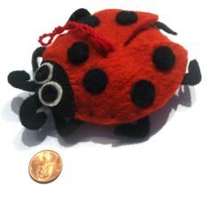 Ladybug Felt Ornament - Kork: Fiber Art Group via Silk Road Bazaar | Touchstone Gallery