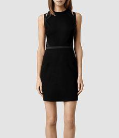 Womens Kiro Dress (Black) - product_image_alt_text_1