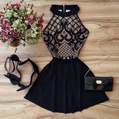 Black Prom Dress,Halter Prom Dress,Fashion Homecoming Dress,Sexy Party
