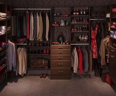 This is a great closet for a couple! Classy but not too feminine!
