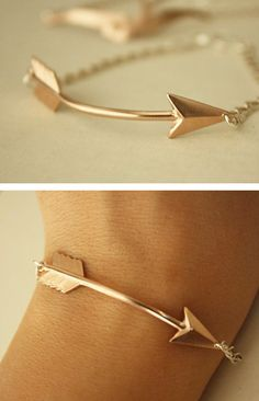 Rose Gold Arrow Bracelet