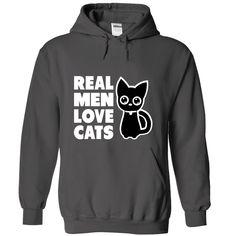 (Tshirt Nice Sale) Real Men Love Cats Discount 5% Hoodies, Funny Tee Shirts