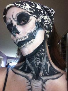 """Skulls:  """"#Skull Makeup,"""" by lawlietsasuke, at deviantART."""