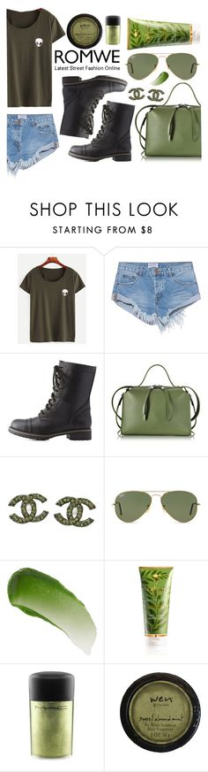 """""""olives"""" by lialicious on Polyvore featuring One Teaspoon, Charlotte Russe, Jil Sander, Chanel, Ray-Ban, Lipstick Queen, RAHUA and MAC Cosmetics"""