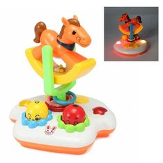 New Baby Toys Musical Happy Carousel Infant Brinquedos Electrical Universal Toy Gift For Children Kid 1-3 years old