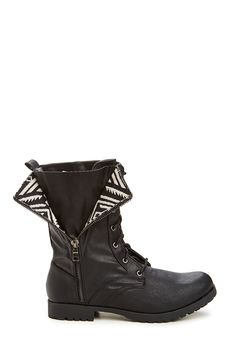 Axtec Print Lace Up Boot