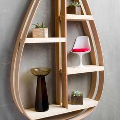 Mid-Century Teardrop Shelf - Unique Modern Furniture - Dot & Bo