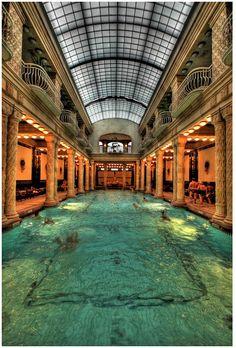 The Gellert Baths, Budapest, Hungary.