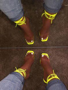 shopofficialbee on Instagra Cute Heels, Cute Sandals, Lace Up Heels, Pumps Heels, Stiletto Heels, High Heels, Stilettos, Crazy Shoes, Me Too Shoes