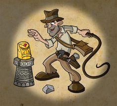 Indiana Jones Cartoon.