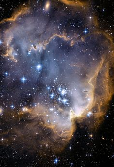 Infant Stars Nebula 13x19 inch Hubble by DeepSpacePhotography, $15.00
