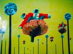 Invisible Brain Surfing Judges. U.V. banner 1994  https://www.facebook.com/humbleart.co.uk/