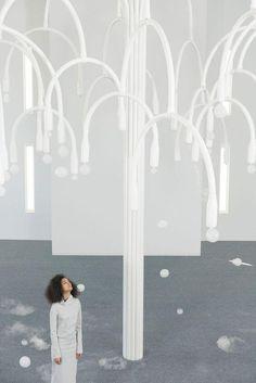 Fashion Installation, Artistic Installation, Installation Interactive, Miami Houses, Art Deco Buildings, Soho House, Ceiling Design, Architecture, Sculpture Art