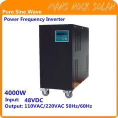 4KW Pure Sine Wave Off Grid Inverter 96VDC-110/220VAC 50/60Hz with City Grid Charge Function Power Frequency Inverter #Affiliate